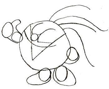 Рисуем смешарика Кроша - шаг 4