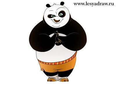 Картинка кунг фу панда