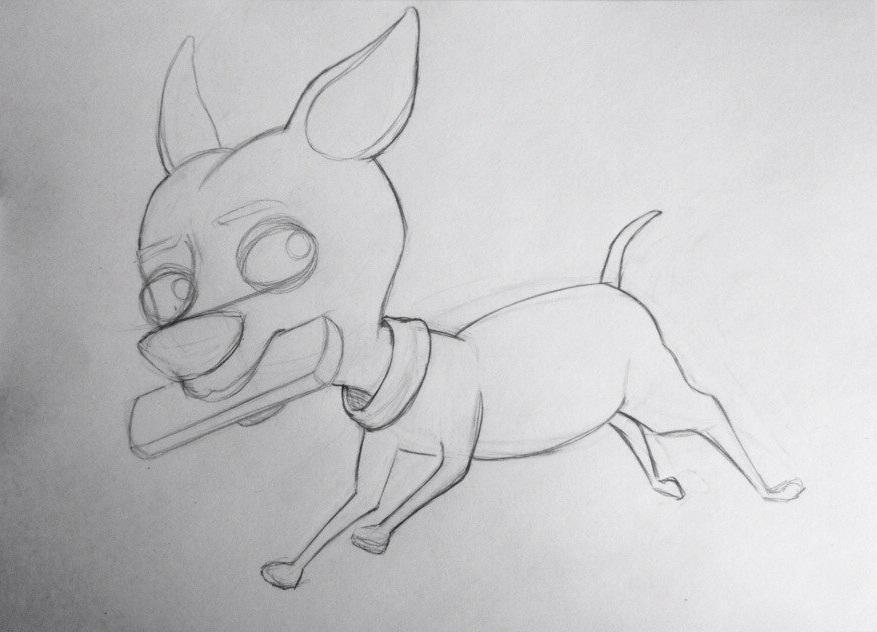 Как нарисовать Кусачку и мультика Фиксики карандашом