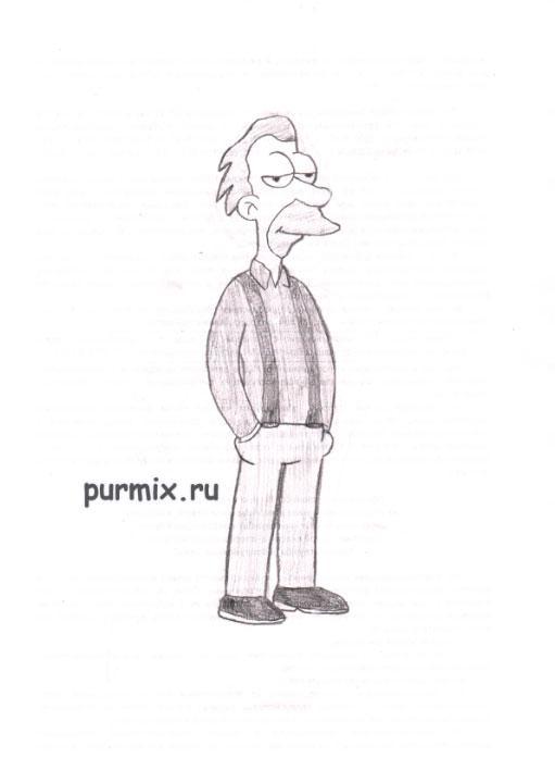 Рисуем Ленфорда «Ленни» Леонарда из Симпсонов