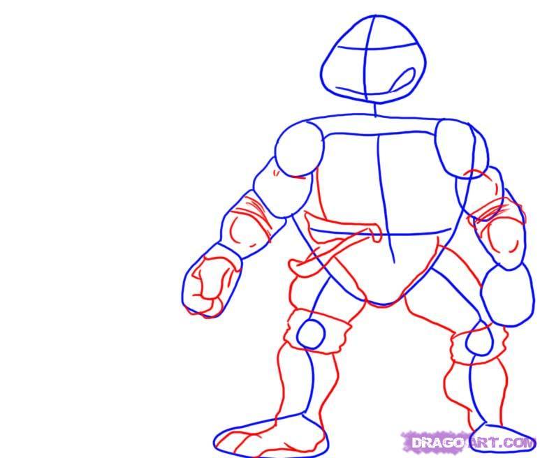 Как нарисовать черепашек поэтапно