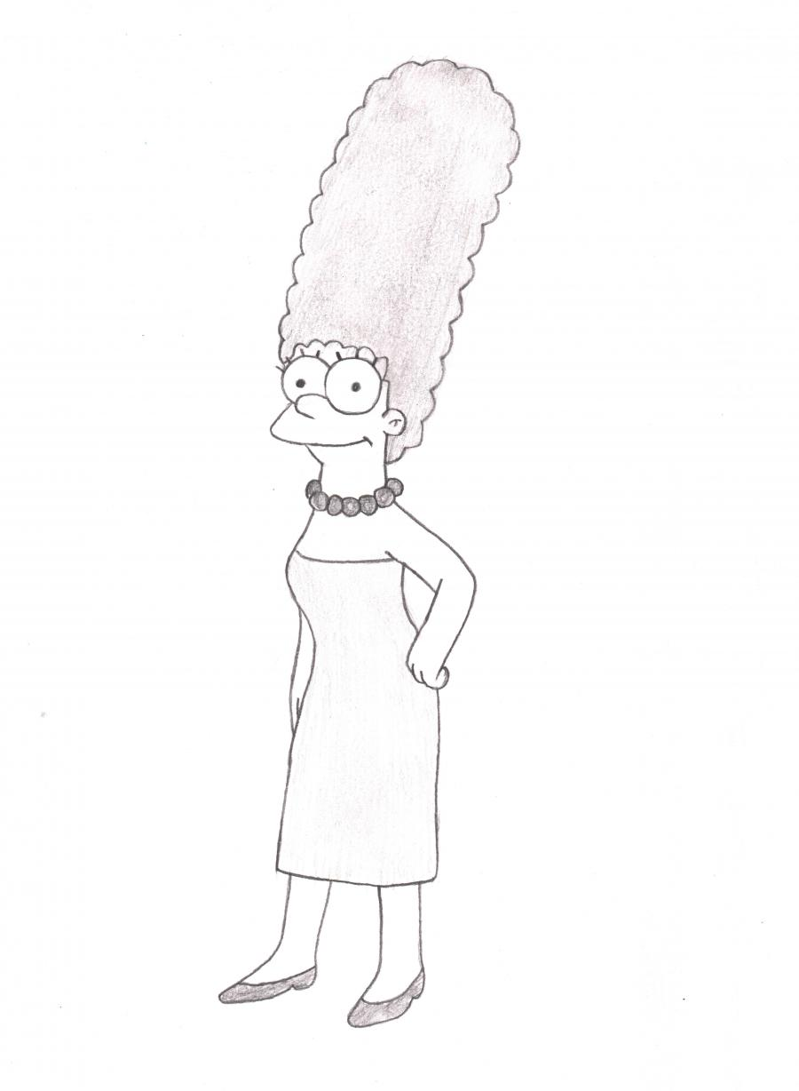 How to Draw Marge Simpson 5