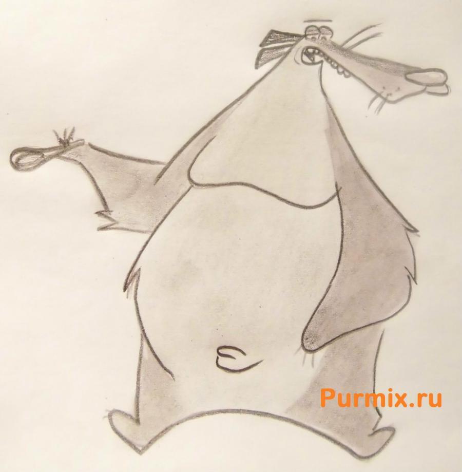 Рисуем медведя Барри из Крутых бобров