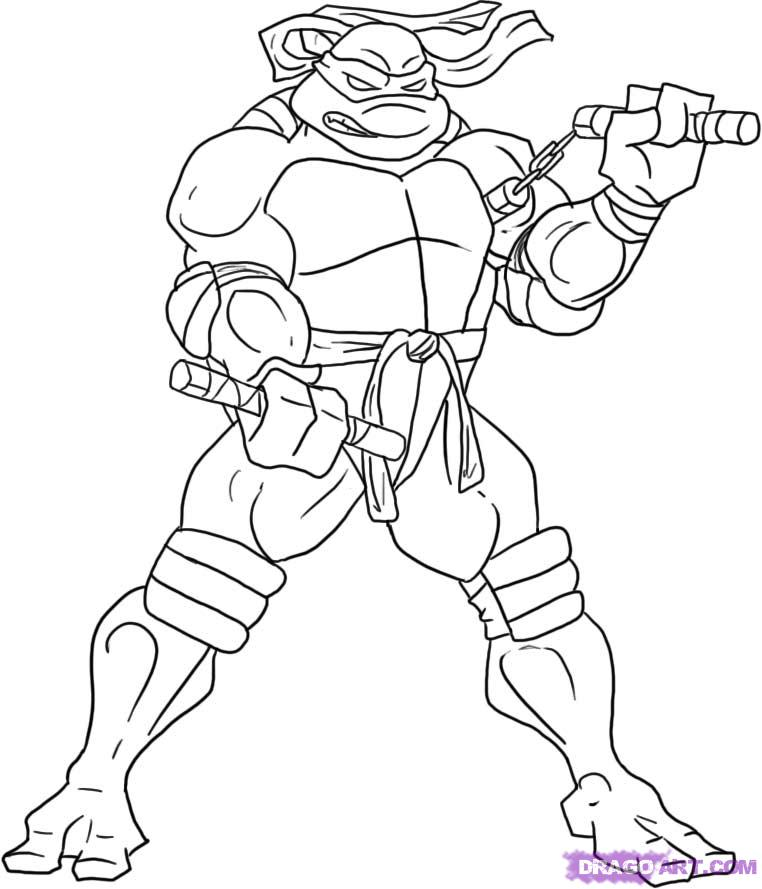 Michelangelo ninja turtle drawing
