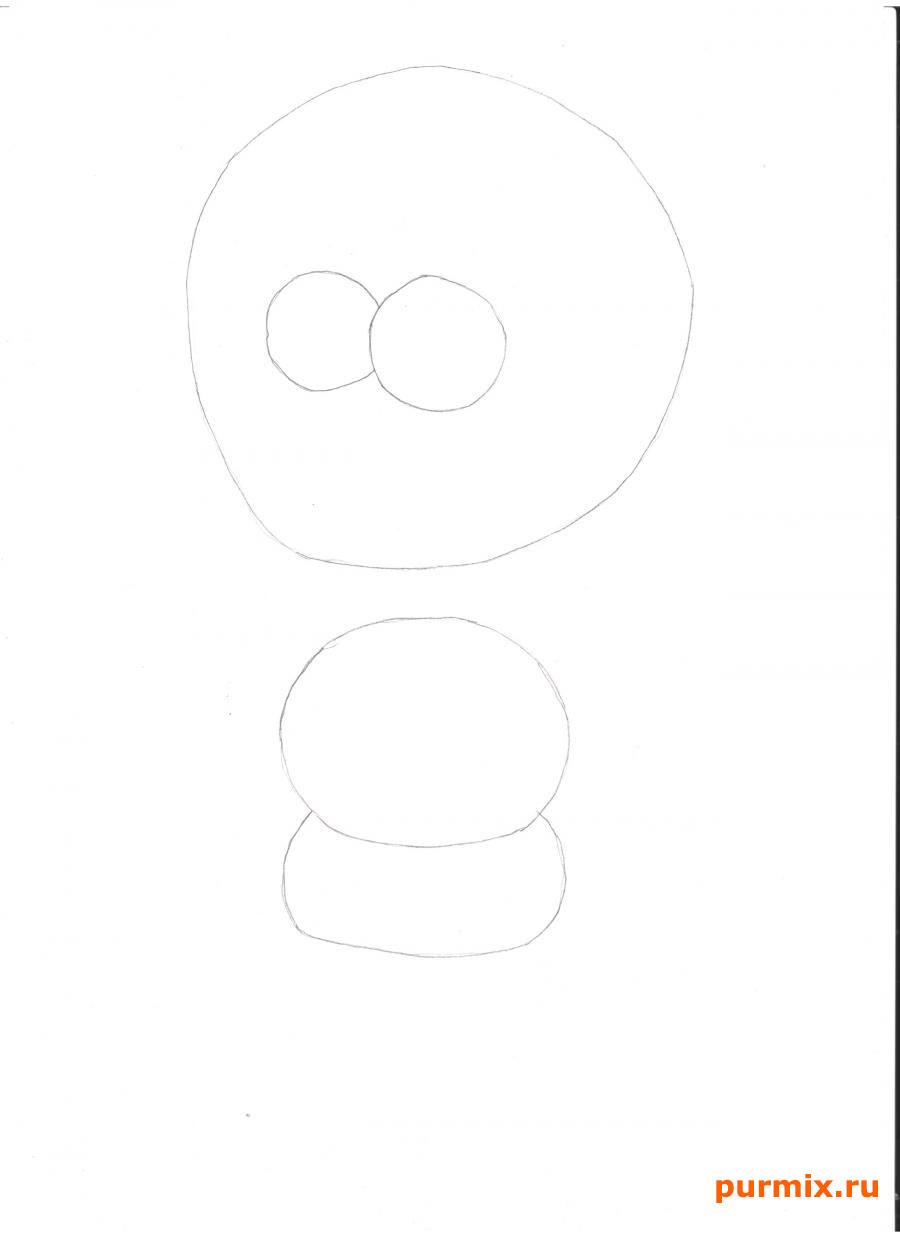 Рисуем Мэгги из Симпсонов - шаг 1