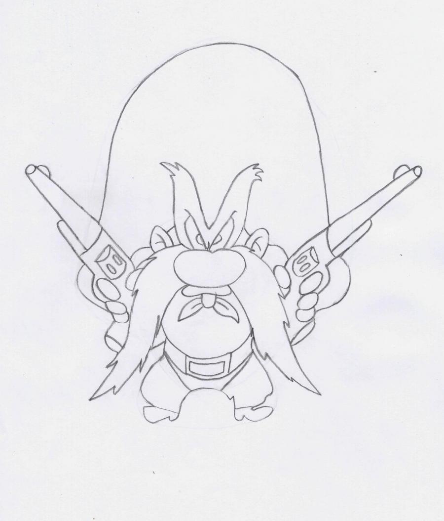 Рисуем Неупровляемого Сэма из Веселые мелодии