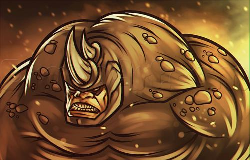 Рисуем носорога из Spider Man