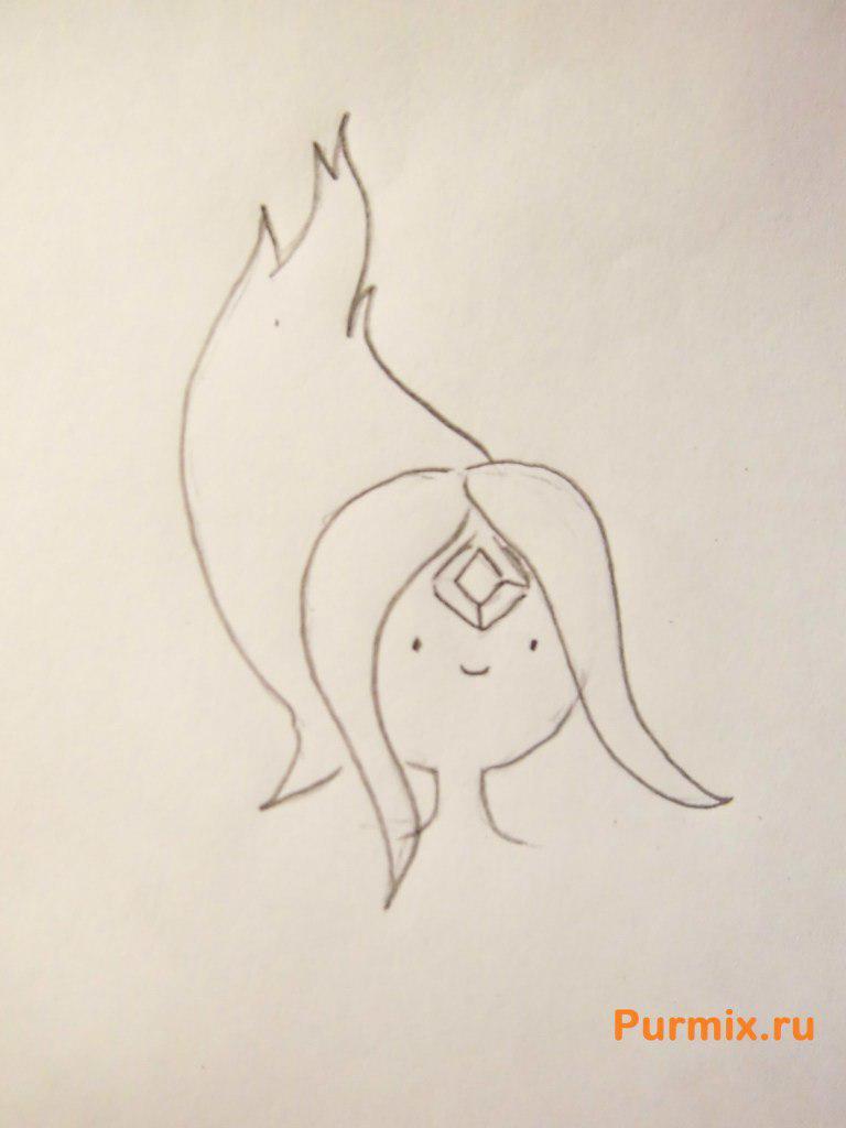 Рисуем Огненную принцессу из Время приключений