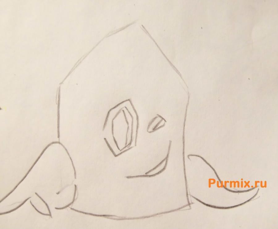Рисуем Пенёк из мультсериала Крутые бобры