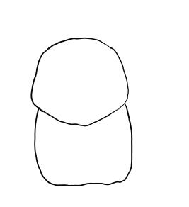 Рисуем покемона Пикачу карандашами - шаг 1