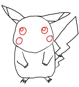 Рисуем покемона Пикачу карандашами - шаг 5