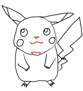 Рисуем покемона Пикачу карандашами - шаг 6