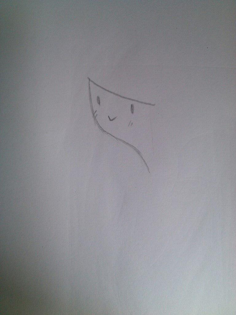 Как нарисовать принцесса Бубльгум из Время приключений - шаг 1