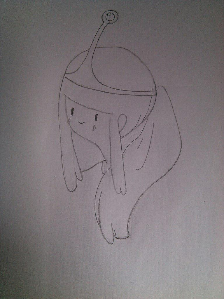 Как нарисовать принцесса Бубльгум из Время приключений - шаг 3