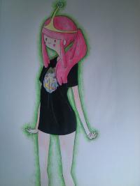 Рисунок принцесса Бубльгум из Время приключений