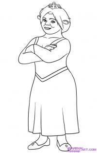 принцессу Фиону карандашом