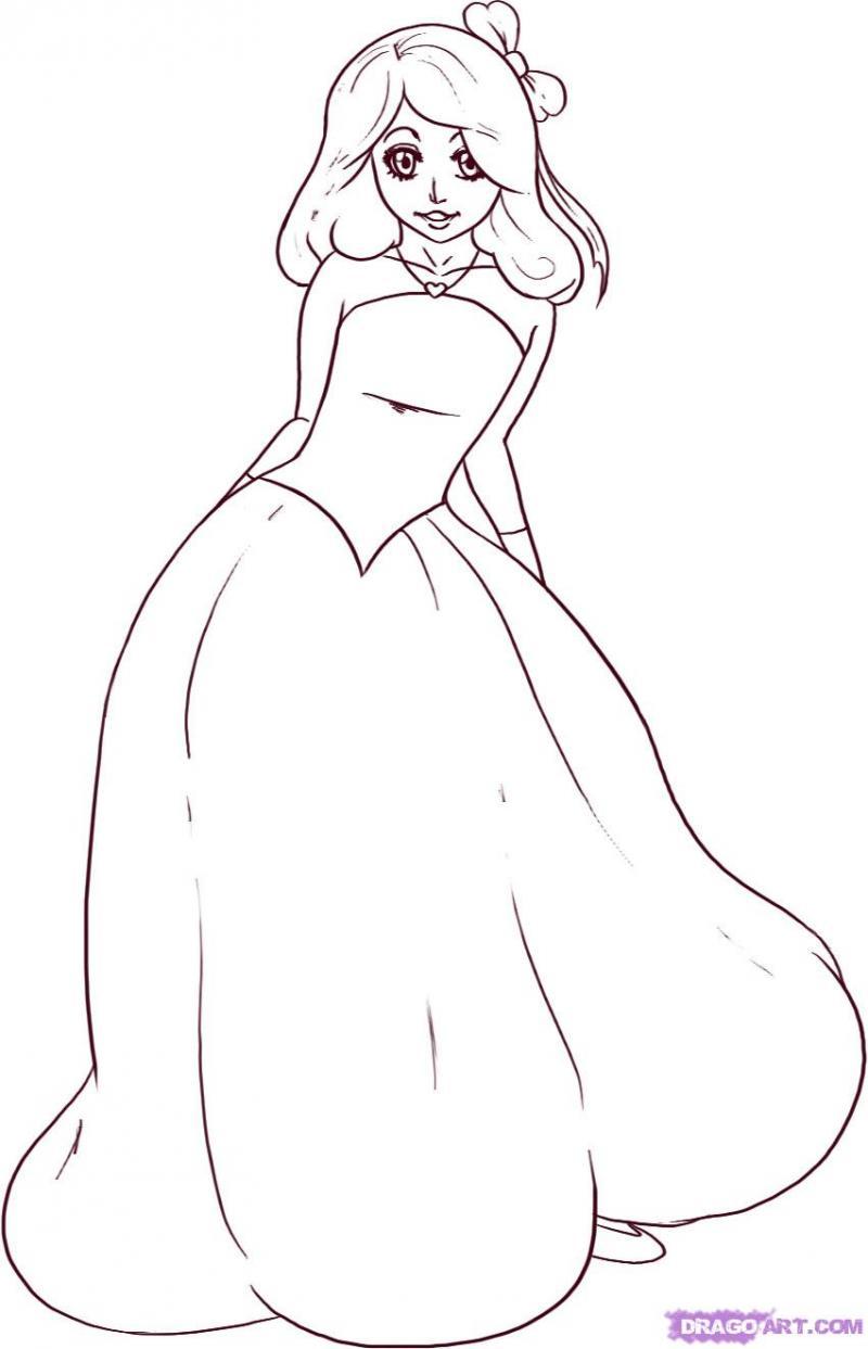 Рисуем принцессу на бумаге