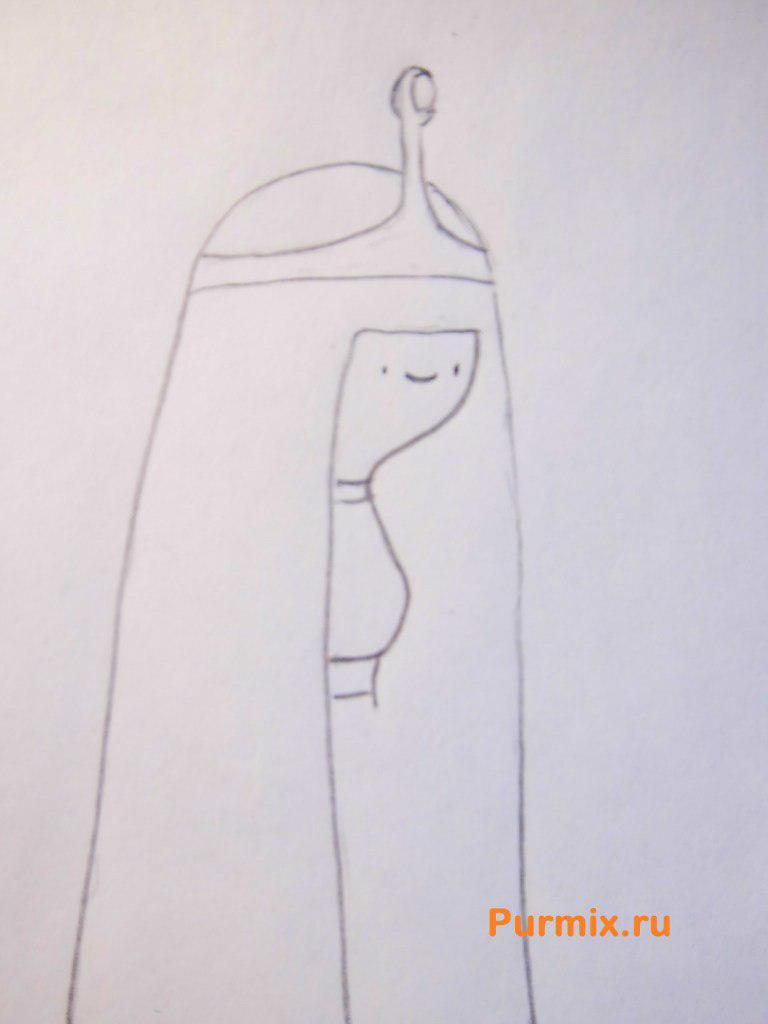 Рисуем Принцессу жвачку из Время приключений