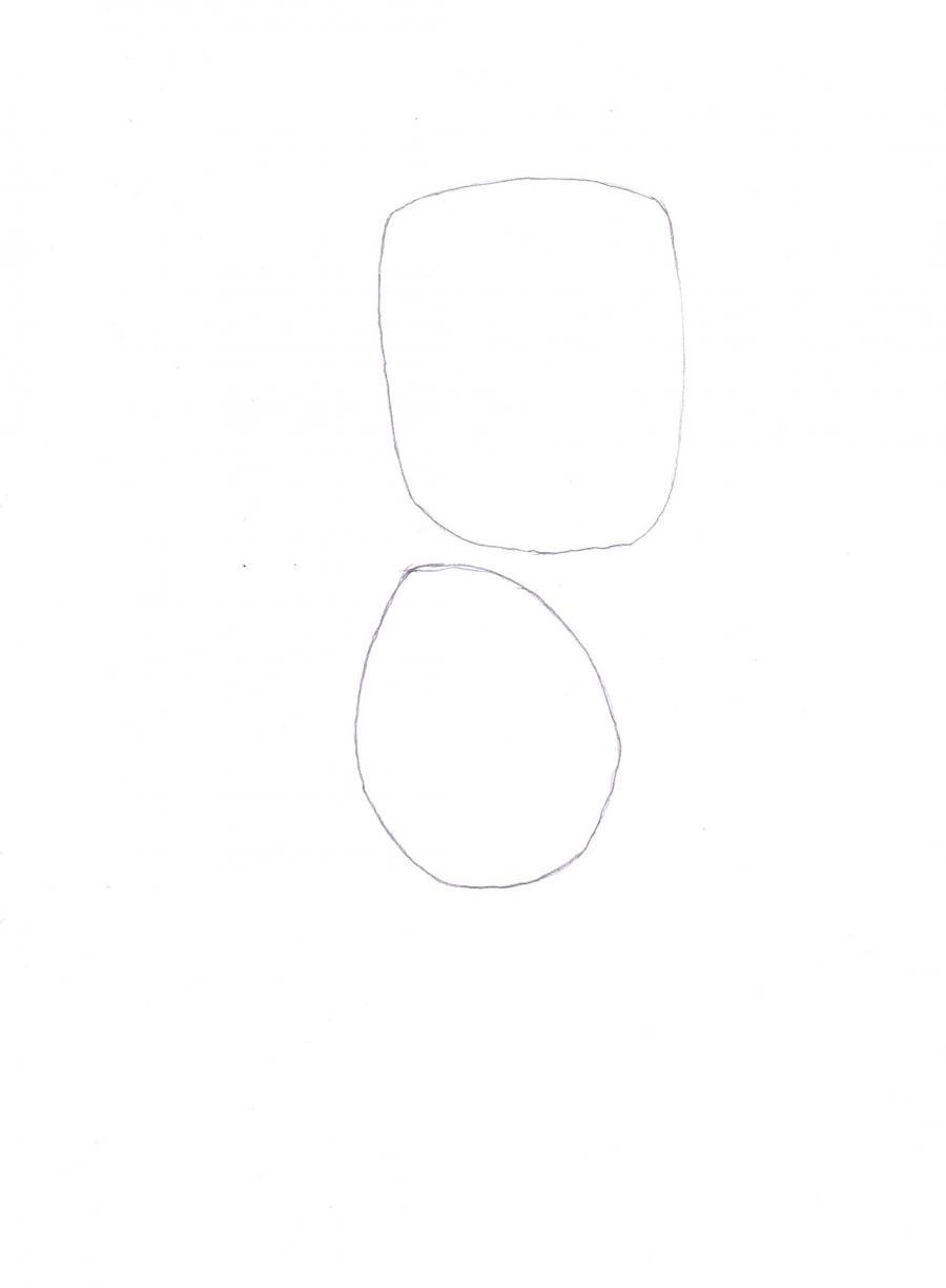Рисуем Барта Симпсона со скейтом - шаг 1