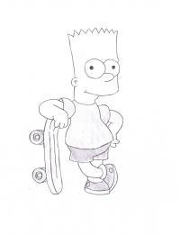 Как просто нарисовать Барта Симпсона карандашом