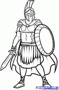 Фото римского солдата карандашом