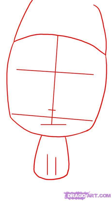 Как нарисовать робота ГИР из Захватчик Зим карандашом