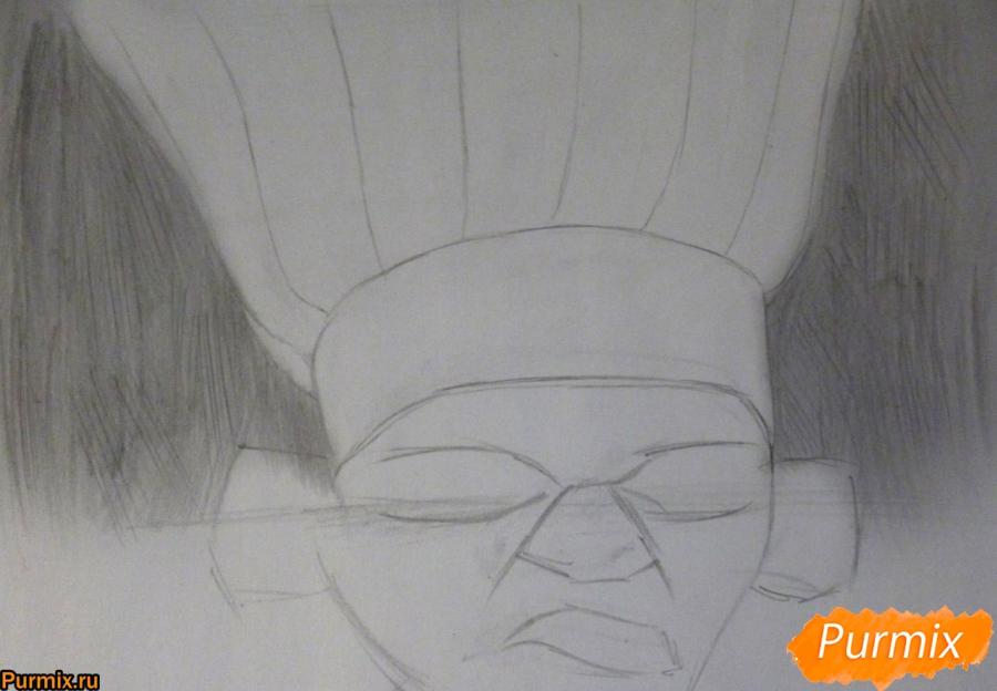 Рисуем Скиннера из мультфильма Рататуй - фото 2