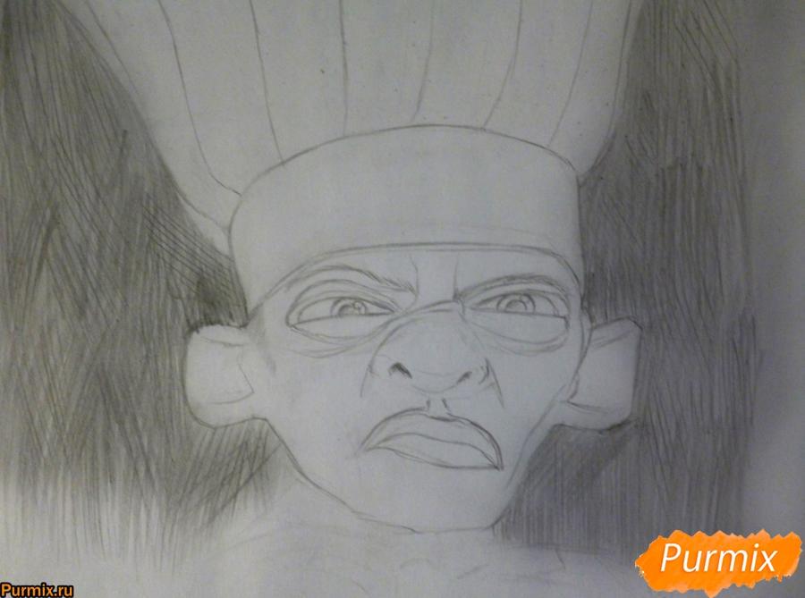 Рисуем Скиннера из мультфильма Рататуй - шаг 3