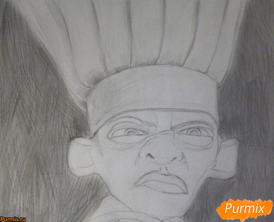 Рисуем Скиннера из мультфильма Рататуй - шаг 5