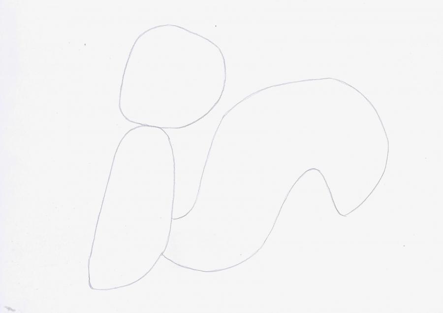 Рисуем скунса Пепе ле Пью из Веселые мелодии