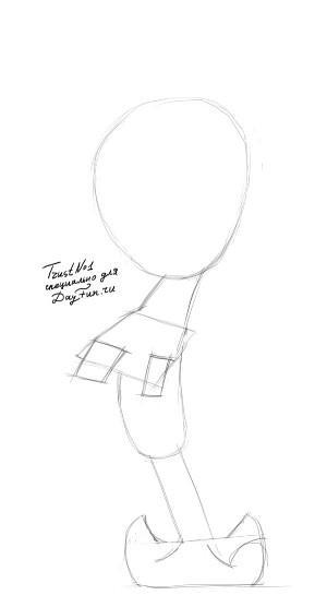 Рисуем Сквидварда из Губка Боб - шаг 1