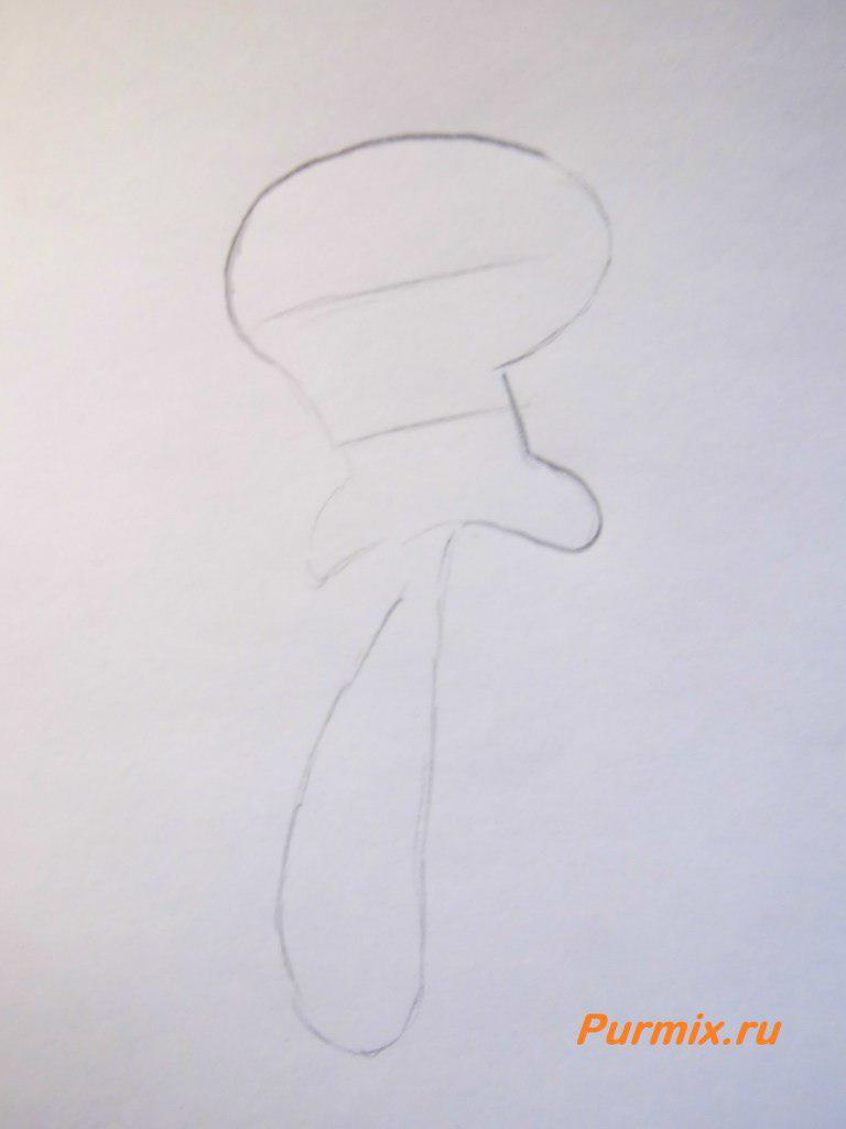 Рисуем Сквидварда Щупальцы - шаг 1