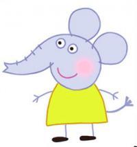 Фото слоненка Эмели из мультика Свинка Пеппа