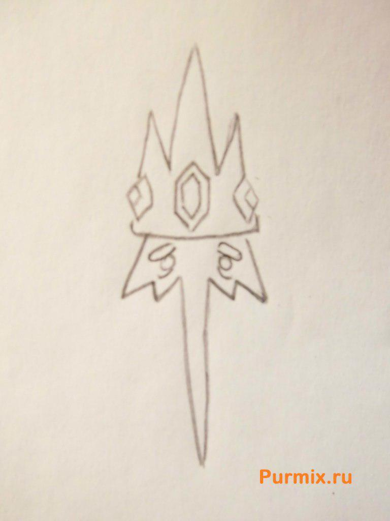 Рисуем Снежного Короля из Время приключений - шаг 2
