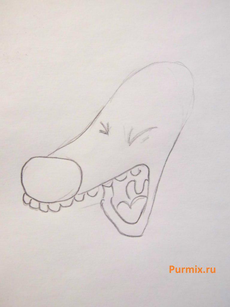 Как нарисовать собаку Писклю из Котопса карандашом поэтапно