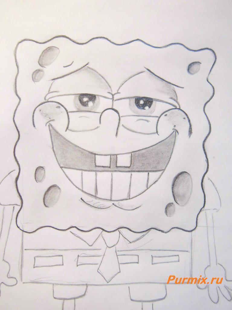 рисунки карандашом спанч боб: