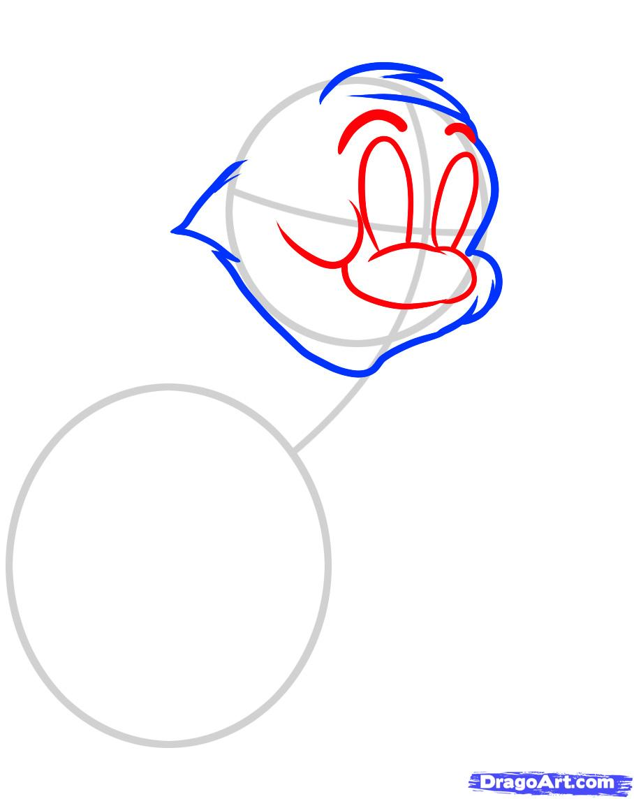 Рисуем Тома из Тома и Джерри - шаг 3