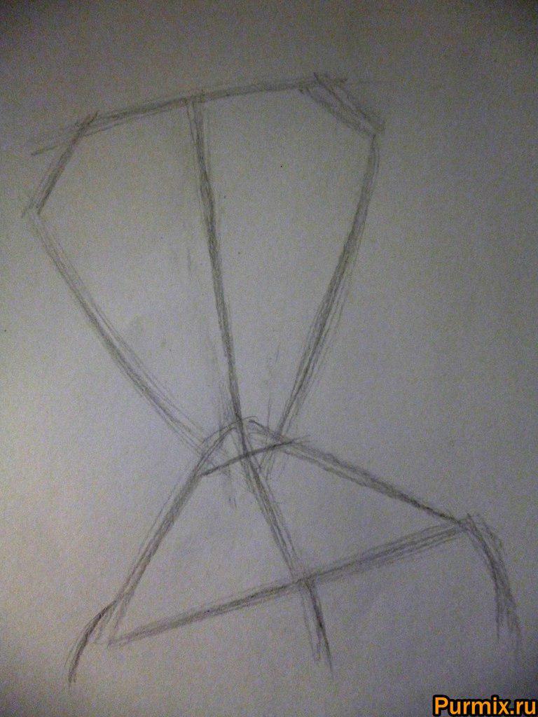 Как нарисовать Уильям Ван Дорт из Труп невесты поэтапно - шаг 1