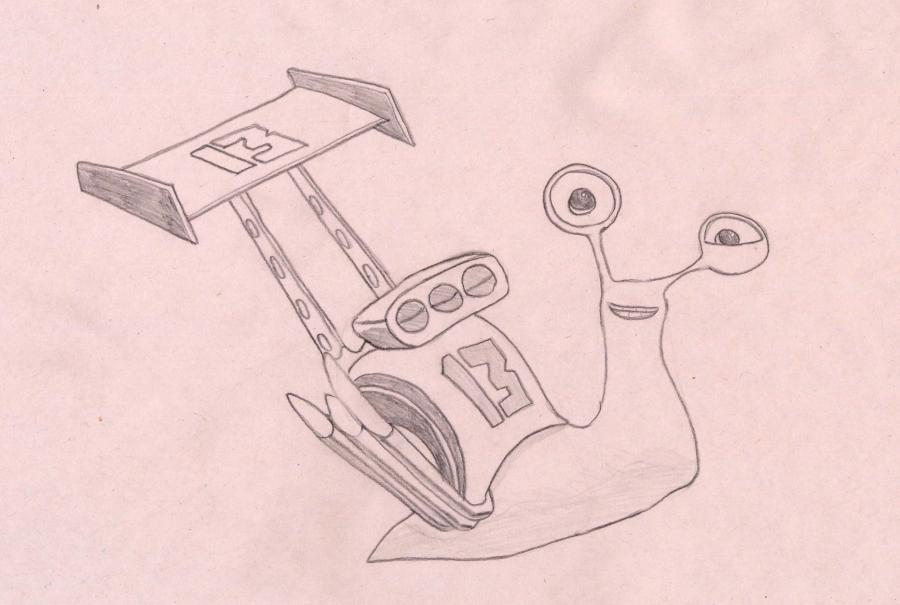 Как нарисовать улитку Занос из Турбо карандашом поэтапно