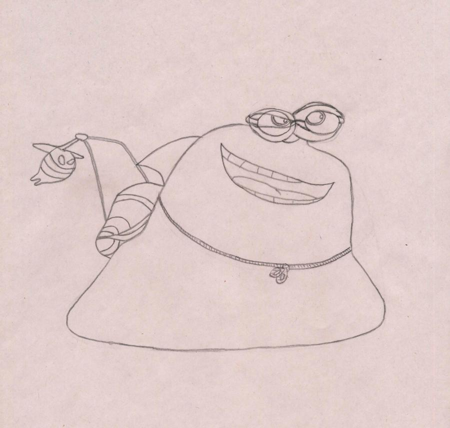 Рисуем улитку Белая Тень из Турбо
