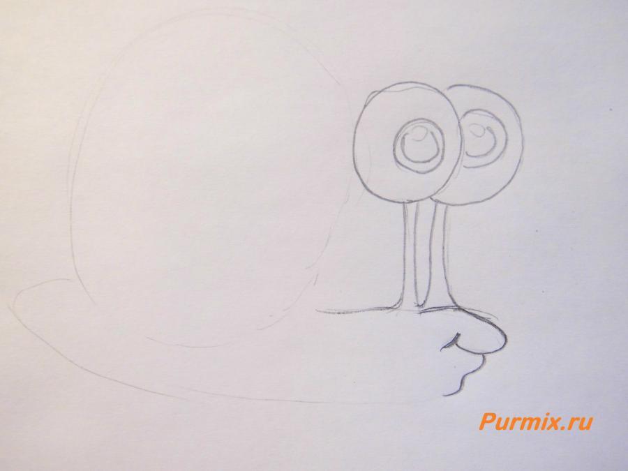 Рисуем улитку Герри из Спанч Боба