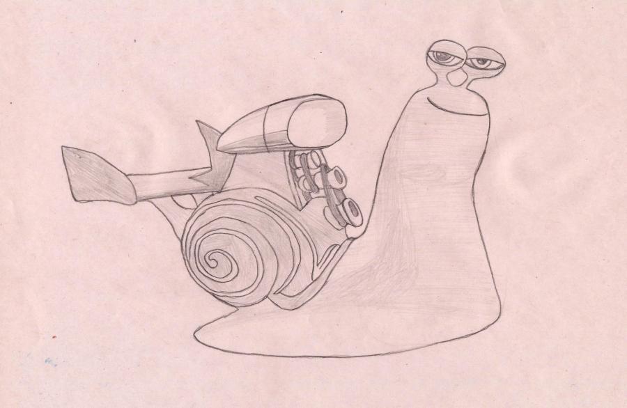Рисуем улитку Хлыст из Турбо