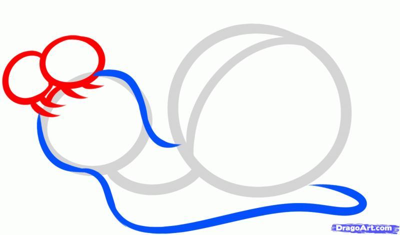 Рисуем улитку Турбо