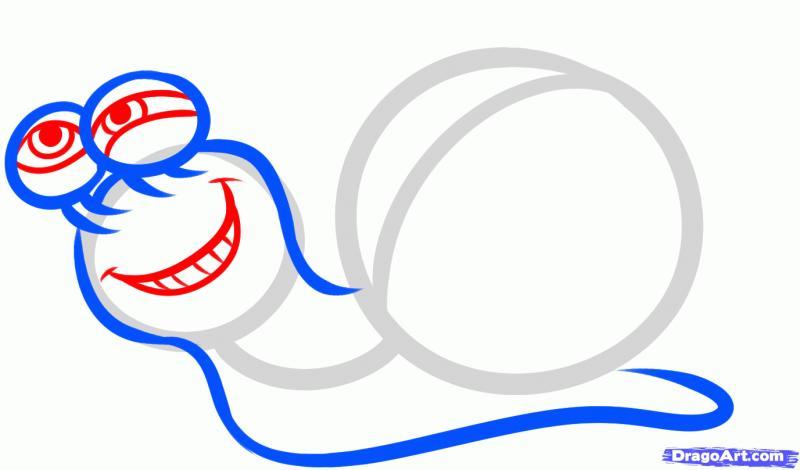 Рисуем улитку Турбо - шаг 4