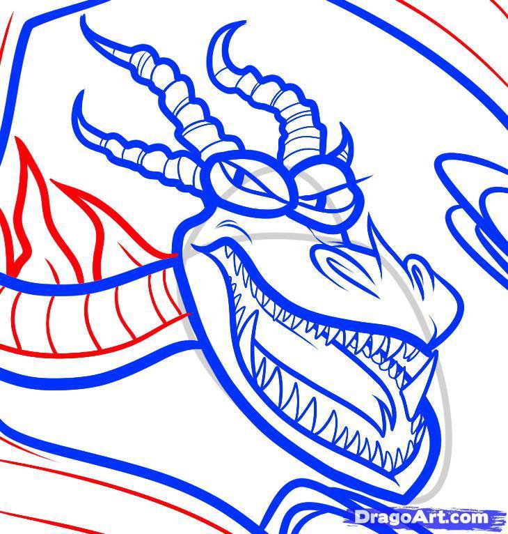 Рисуем Ужасное Чудовище (Кривоклык) из Как приручить дракона