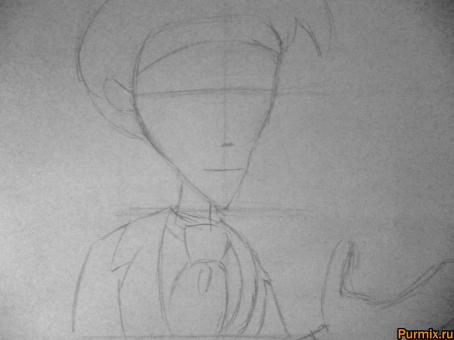 Как нарисовать Виктора Ван Дорта из Труп невесты карандашом - шаг 1