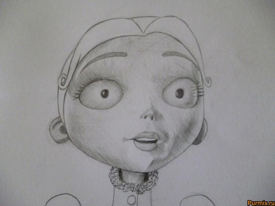 Как нарисовать Викторию Эверглот из Труп невесты поэтапно - шаг 6