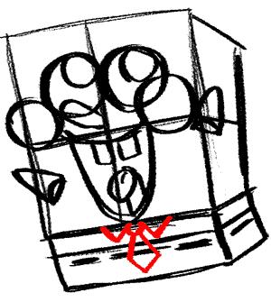 Как нарисовать влюбленного Губку Боба (Sponge Bob) карандашом поэтапно