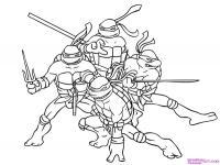 Фото всех четырех черепашек-ниндзя карандашом
