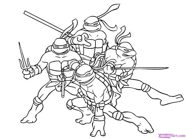 четырех черепашек-ниндзя
